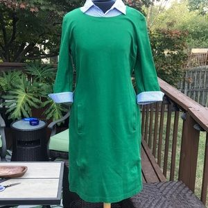 Talbots shirt knit dress size S green